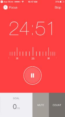 FOcus Keeper App Timer