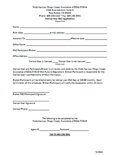 Clerical User Application