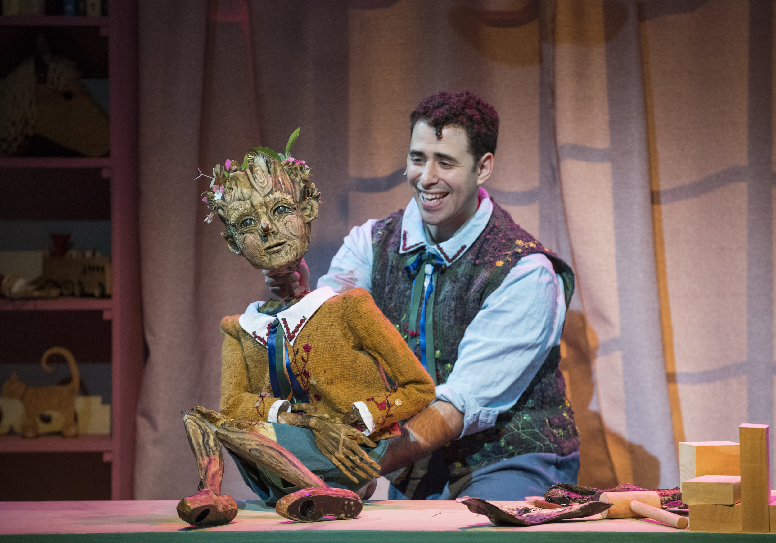 Pinocchio comes to life in Geppetto's workshop