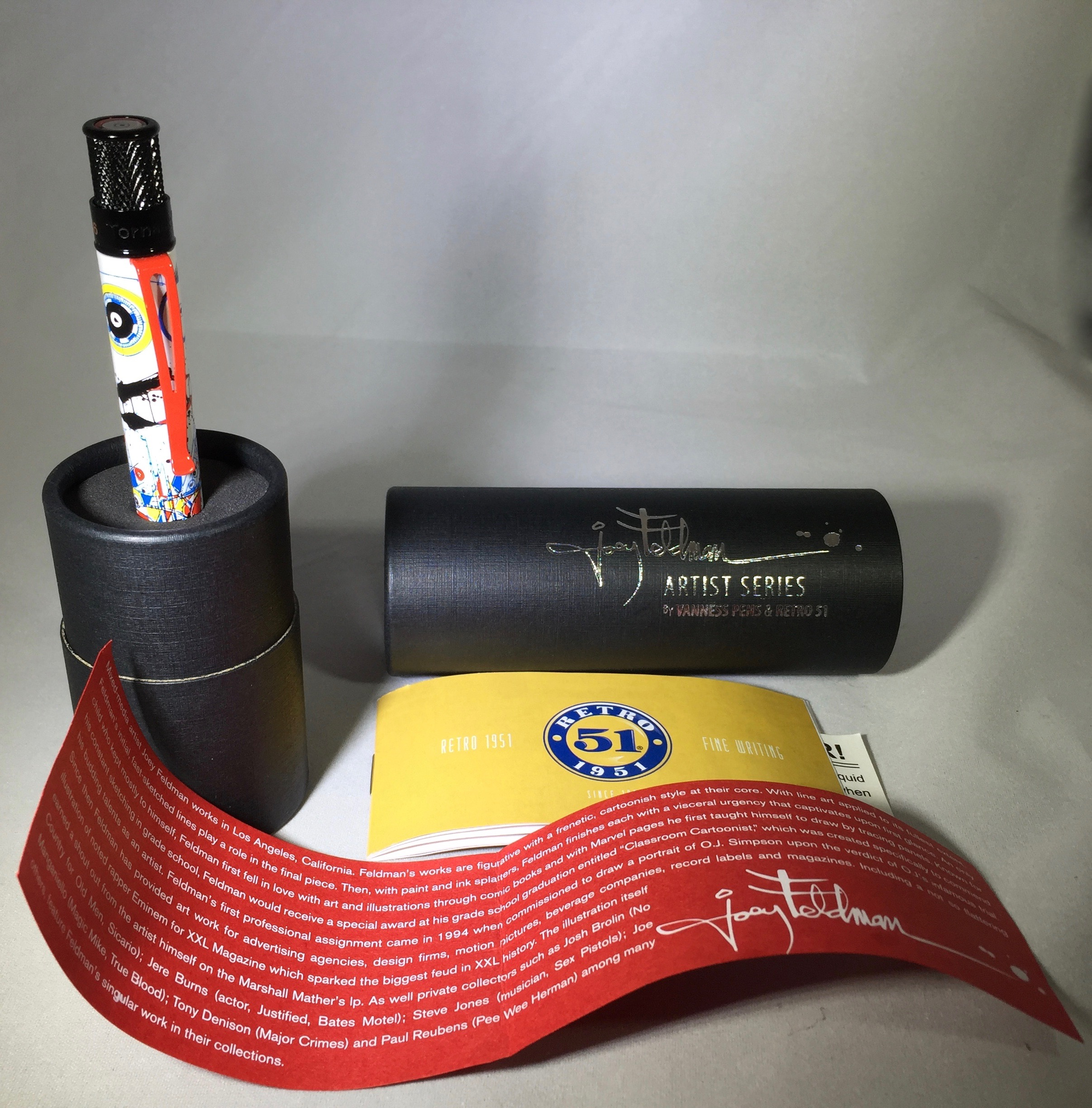 Inside the tube, you will find the pen and some inserts.
