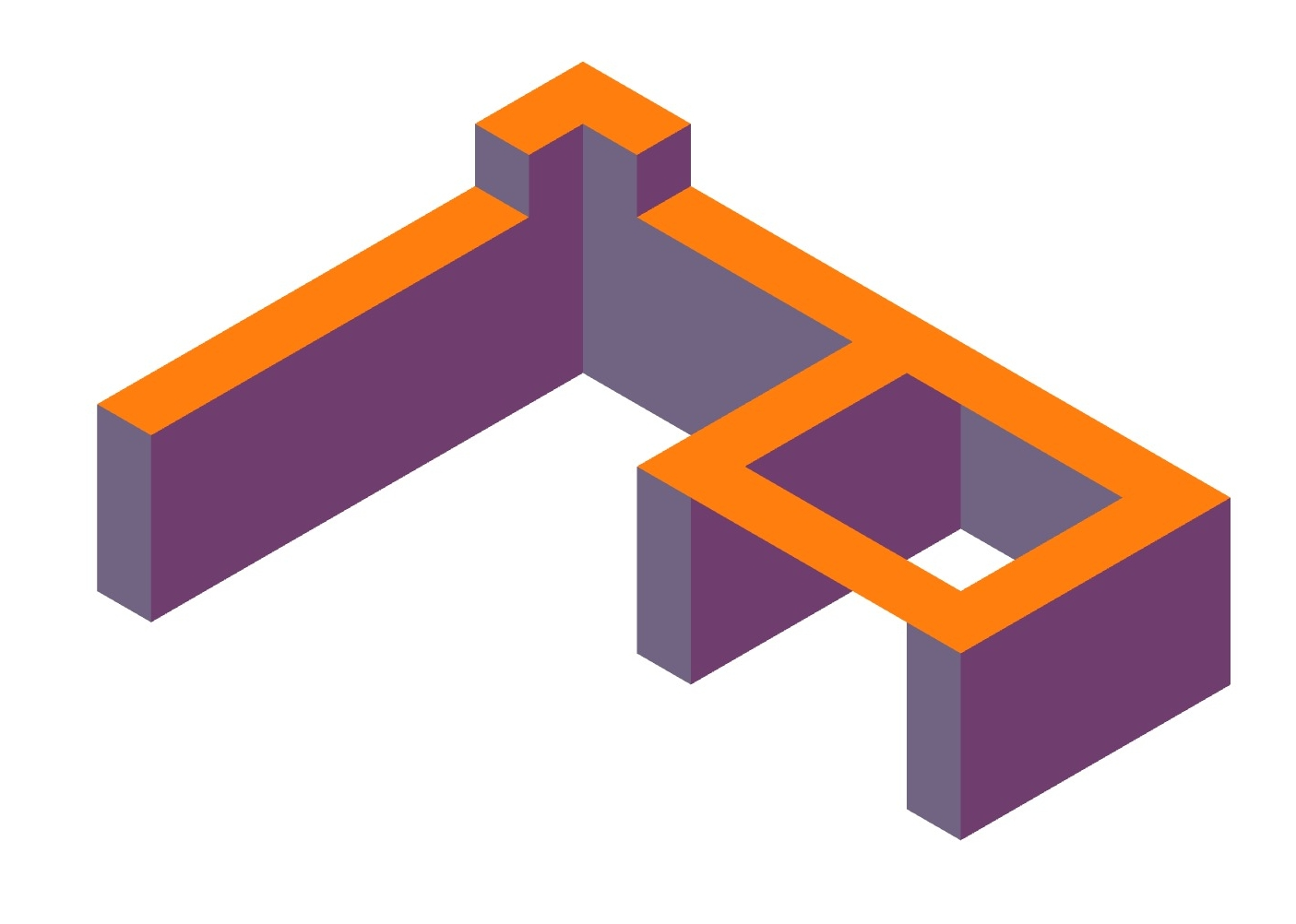 First structure design in  Isometric