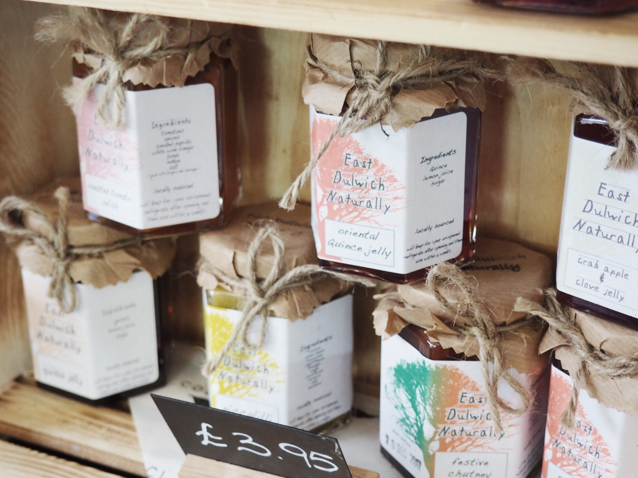 Local jams,pickles and Cafe on the Rye coffee