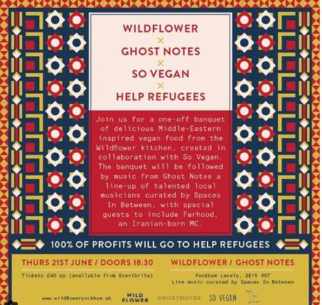 Wildflower charity event, Peckham