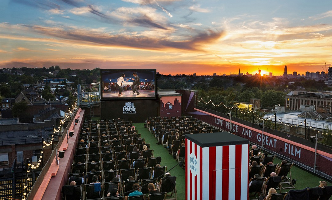 Rootop Film Club at the Bussey Building, Peckham. Image; rooftopfilmclub