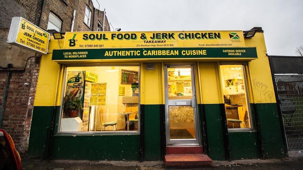 JB's Caribbean takeaway in Peckham. Image; londoncheapeats.co.uk