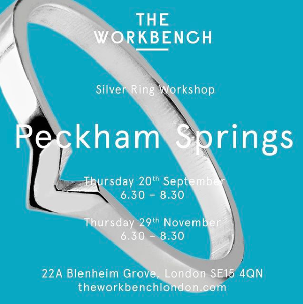 Ring making workshop at Peckham Springs