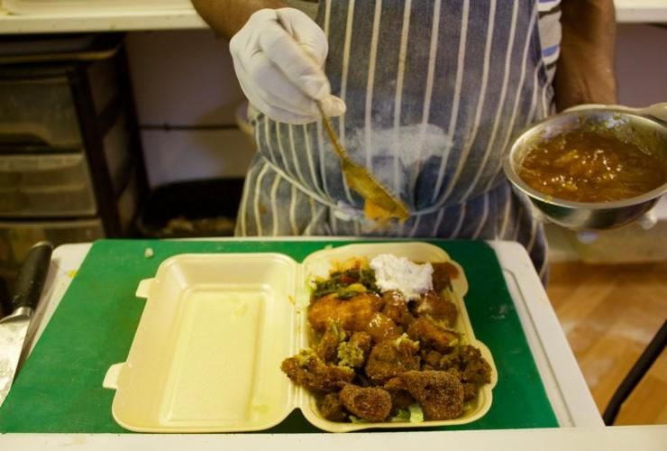 Cheap food in Peckham. Image credit Kele Okere for SouthEast15