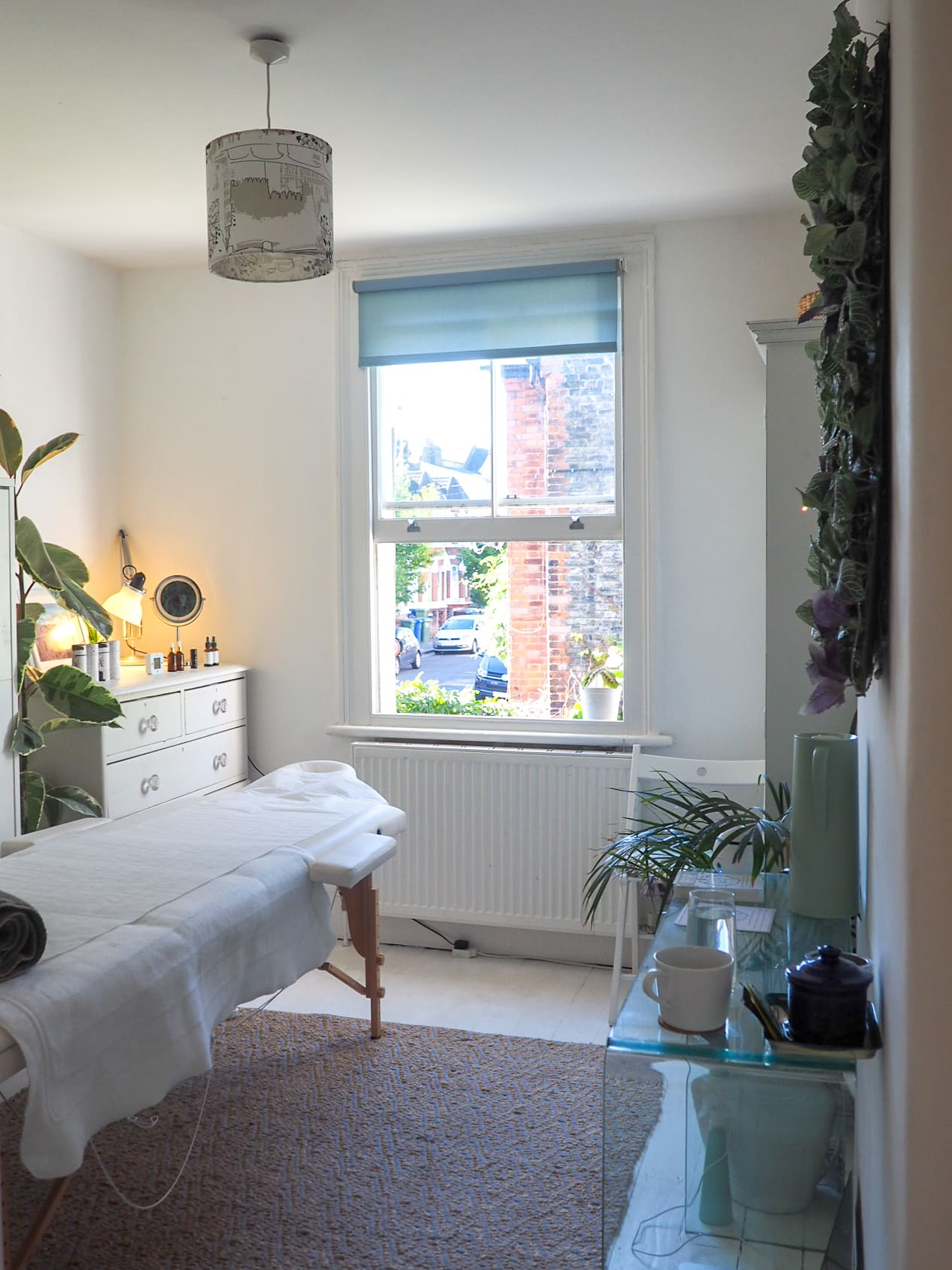 The Nourish Shed treatment room in Peckham