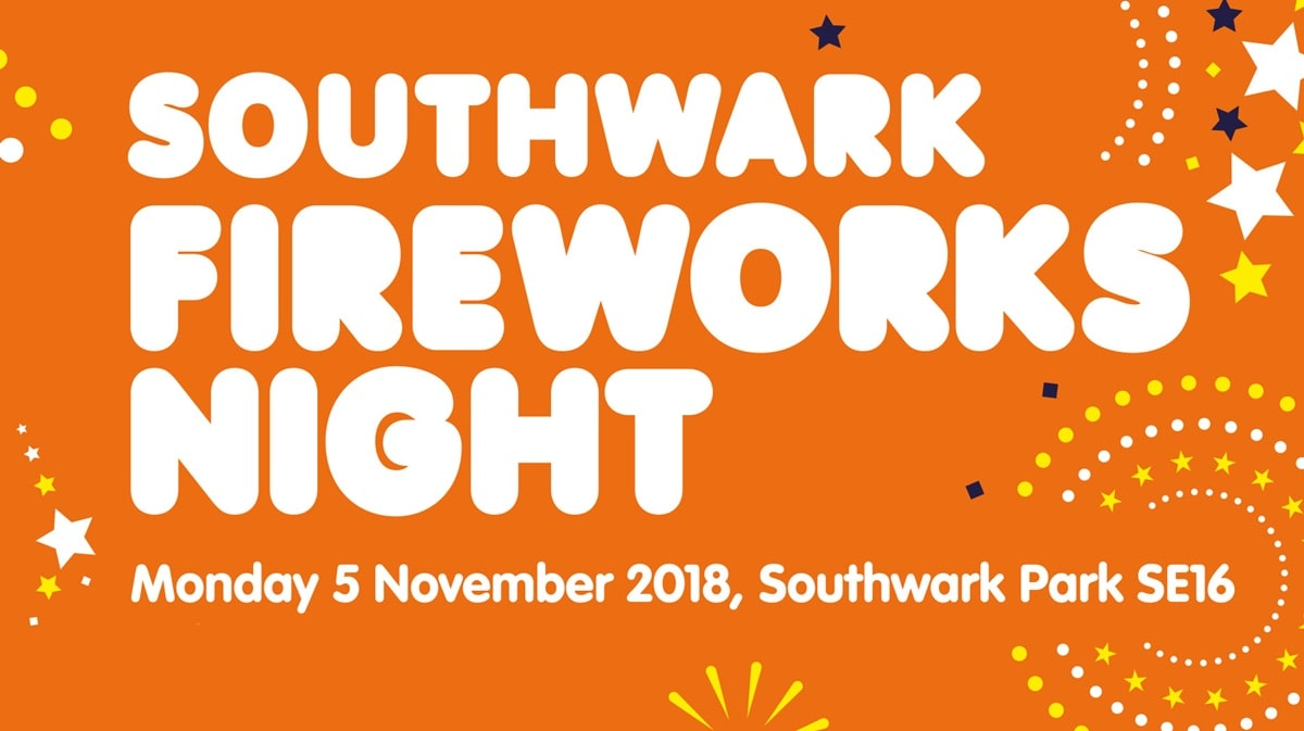 Fireworks night in South London