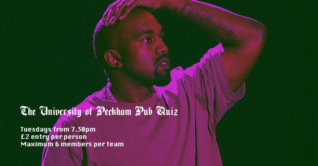 Pub quiz at the Prince of Peckham