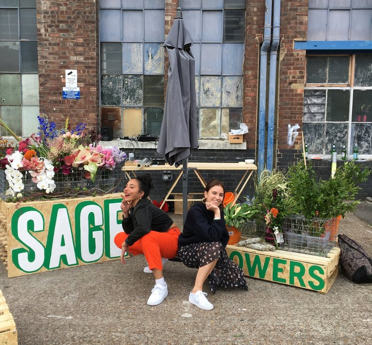 Sage Flowers - owners Iona and Romy. Image cred - Sage Flowers