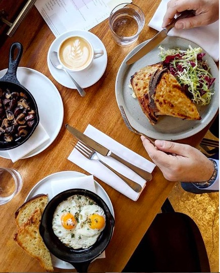 Levan breakfast. Image cred: @levanlondon