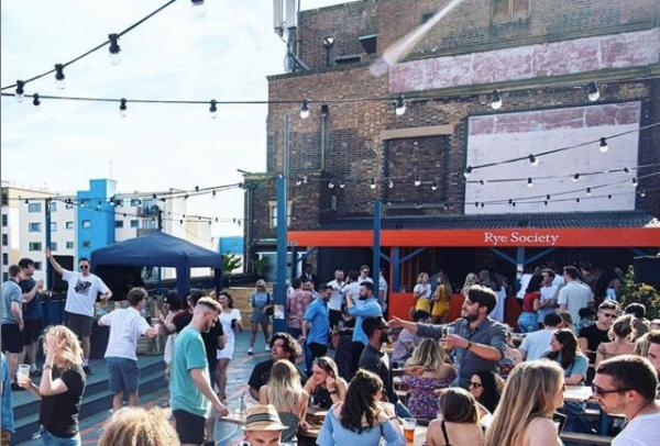 The Bussey Beer garden now called the Rye Society