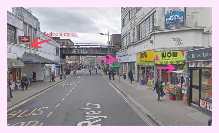 Yada's in Peckham. Image: google maps