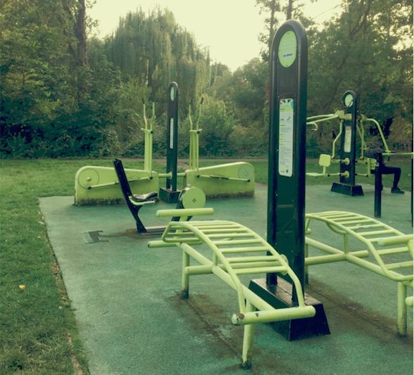 Peckham's outfoor gym in Peckham Rye Park