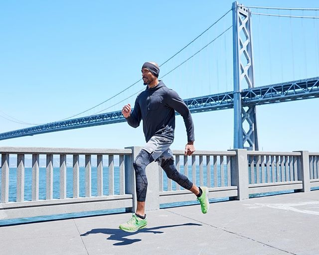 Bay Bridge with @adrianfit.co . . . . . #photographer #running #california #canon #advertising #cityscape