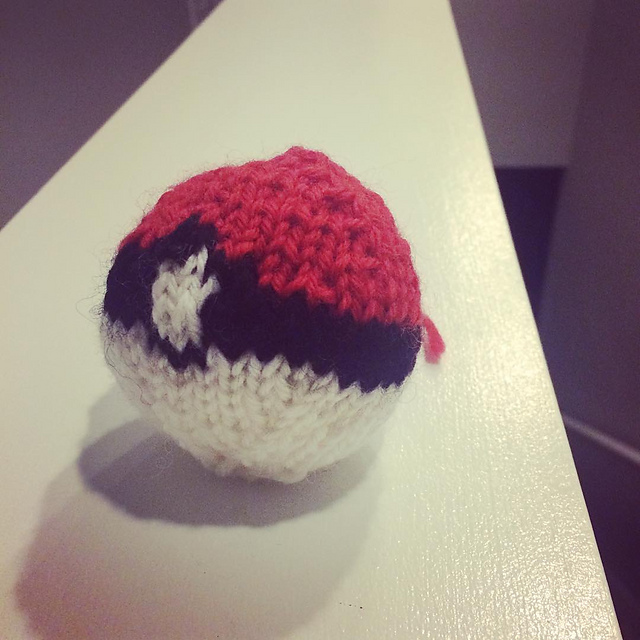 Gotta catch 'em all.Details on the pattern I used on my  Ravelry  page. Yarn is  Knit Picks Wool of the Andes .