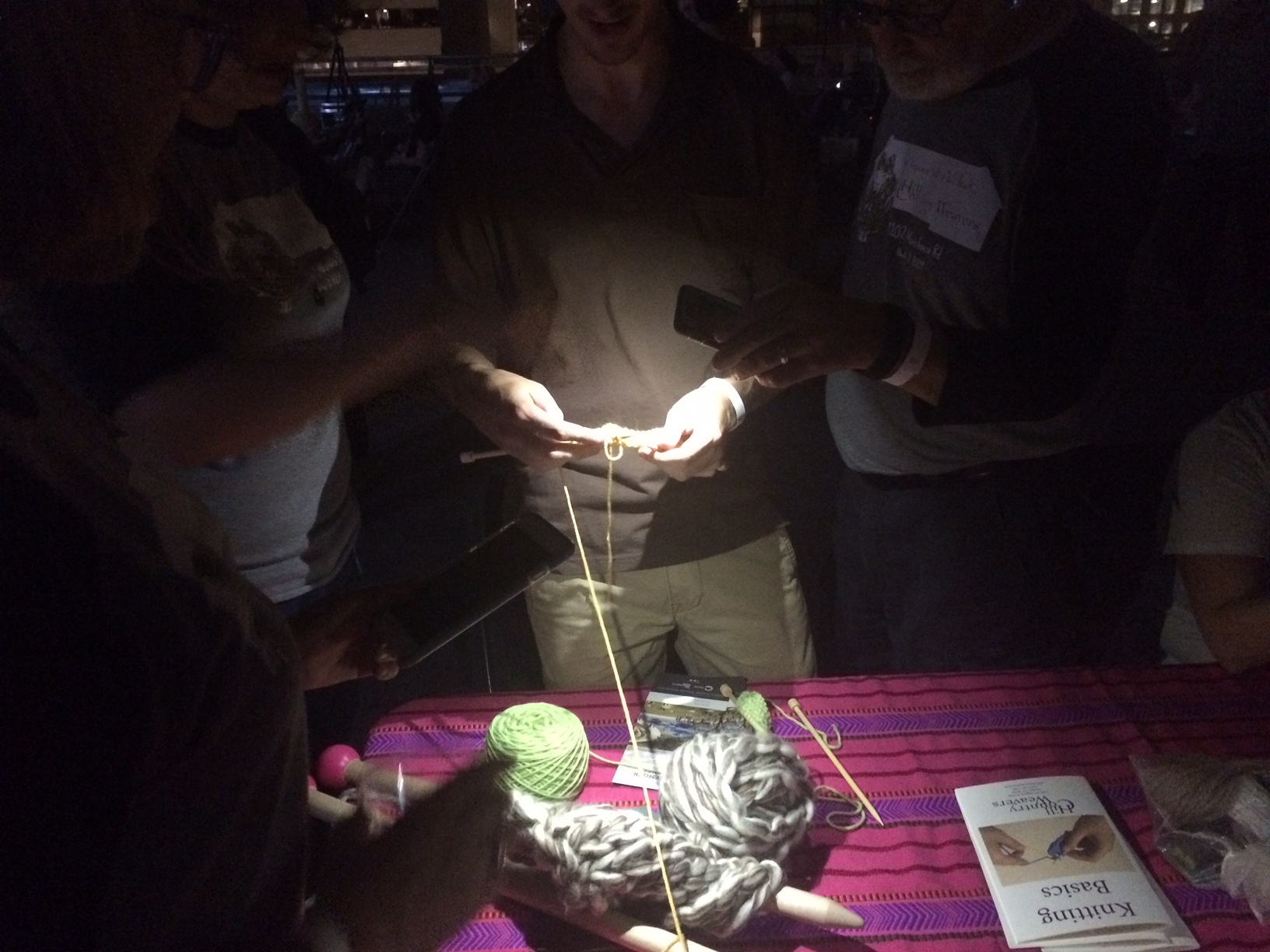 learning to knit at yarn the movie austin
