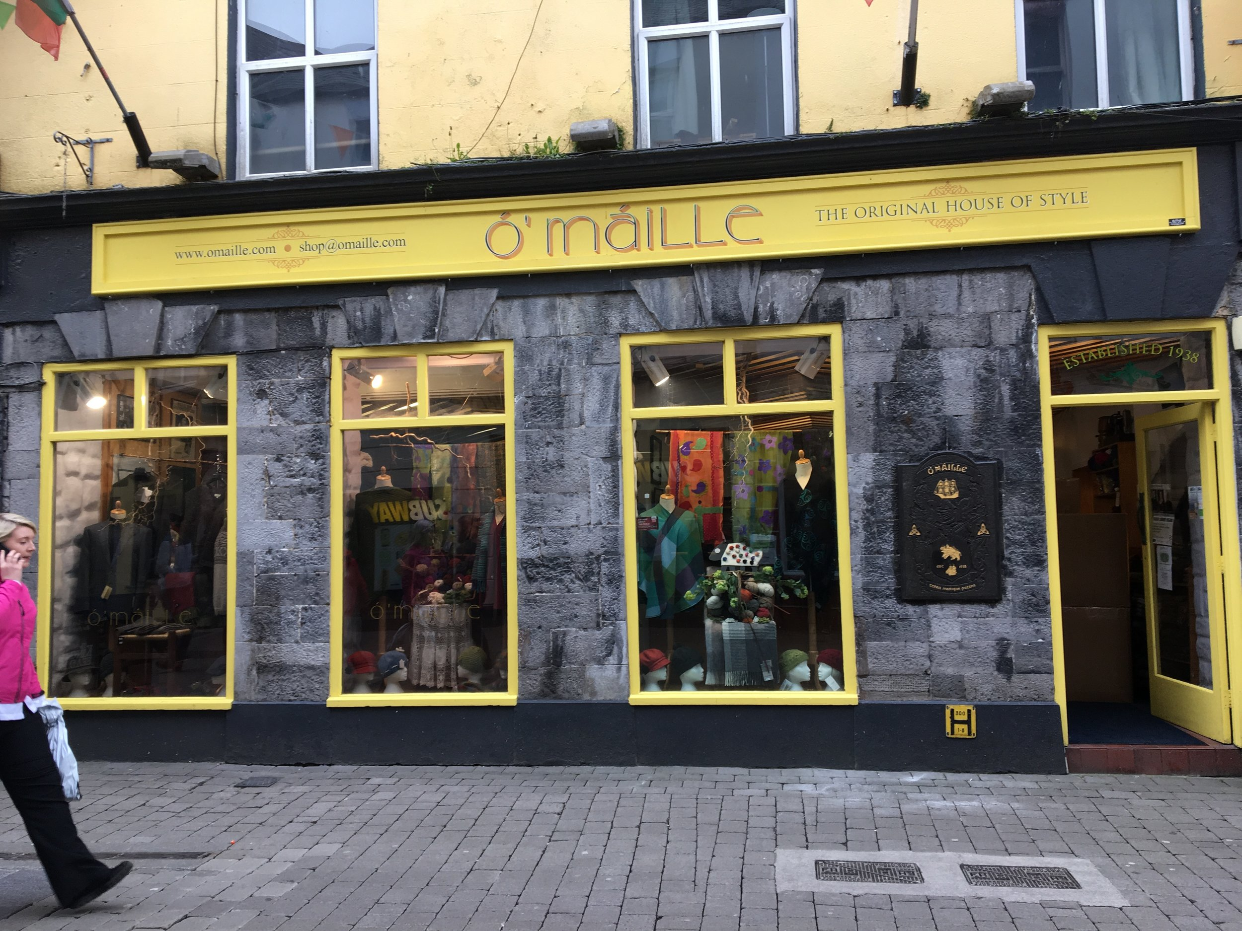 O'Maille's is in the heart of Galway's lively shopping district.