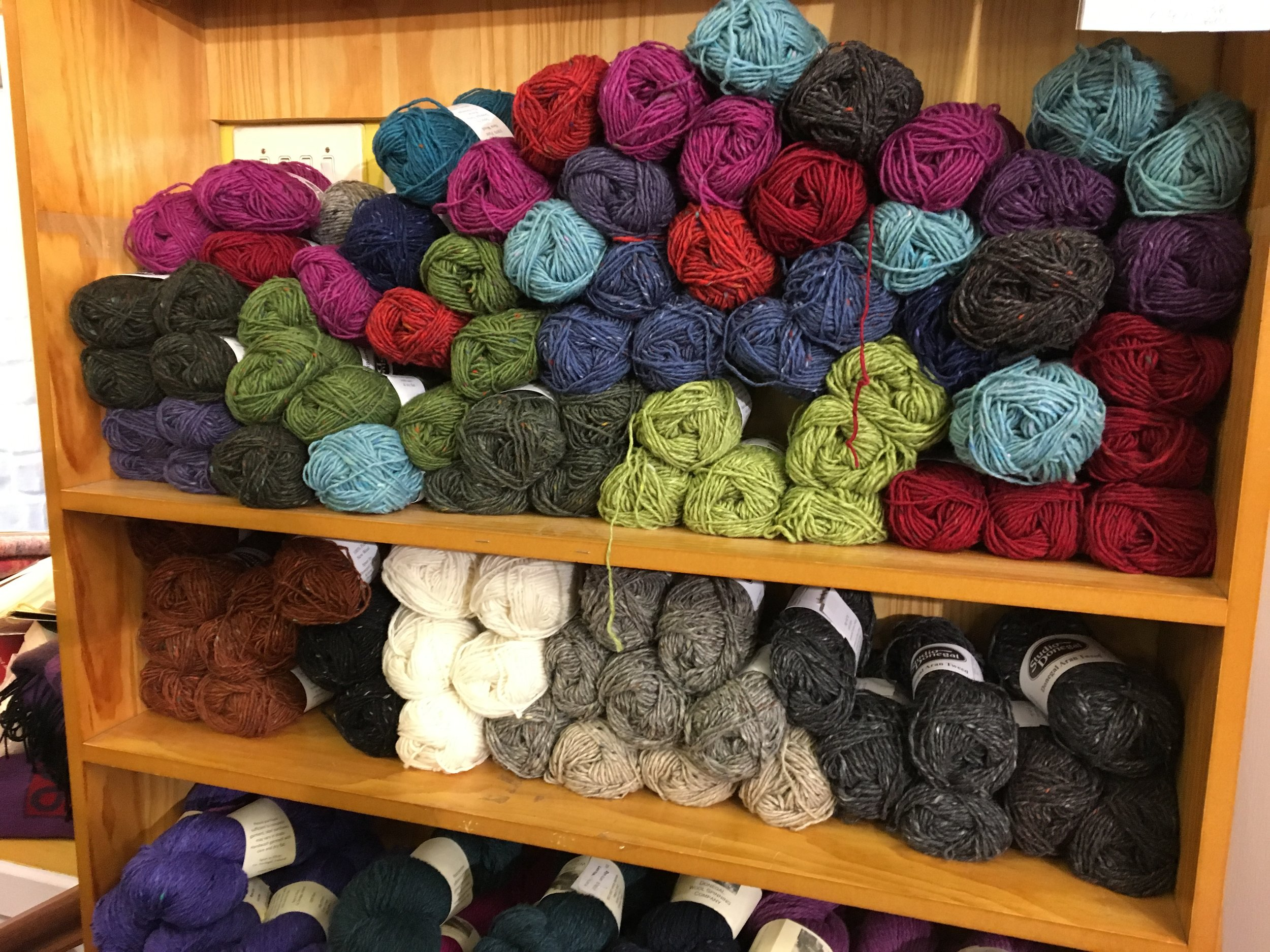 Irish yarn available at O'Maille's.