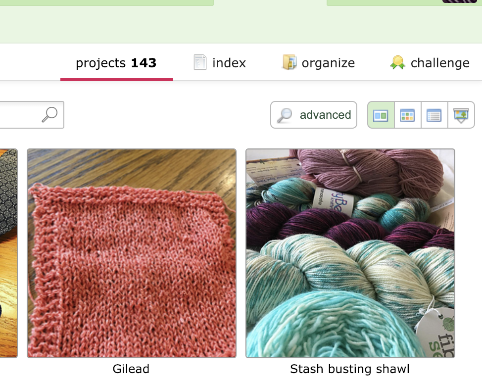 """Go to your project page and set yourself a goal under """"challenge"""", you project knitter."""