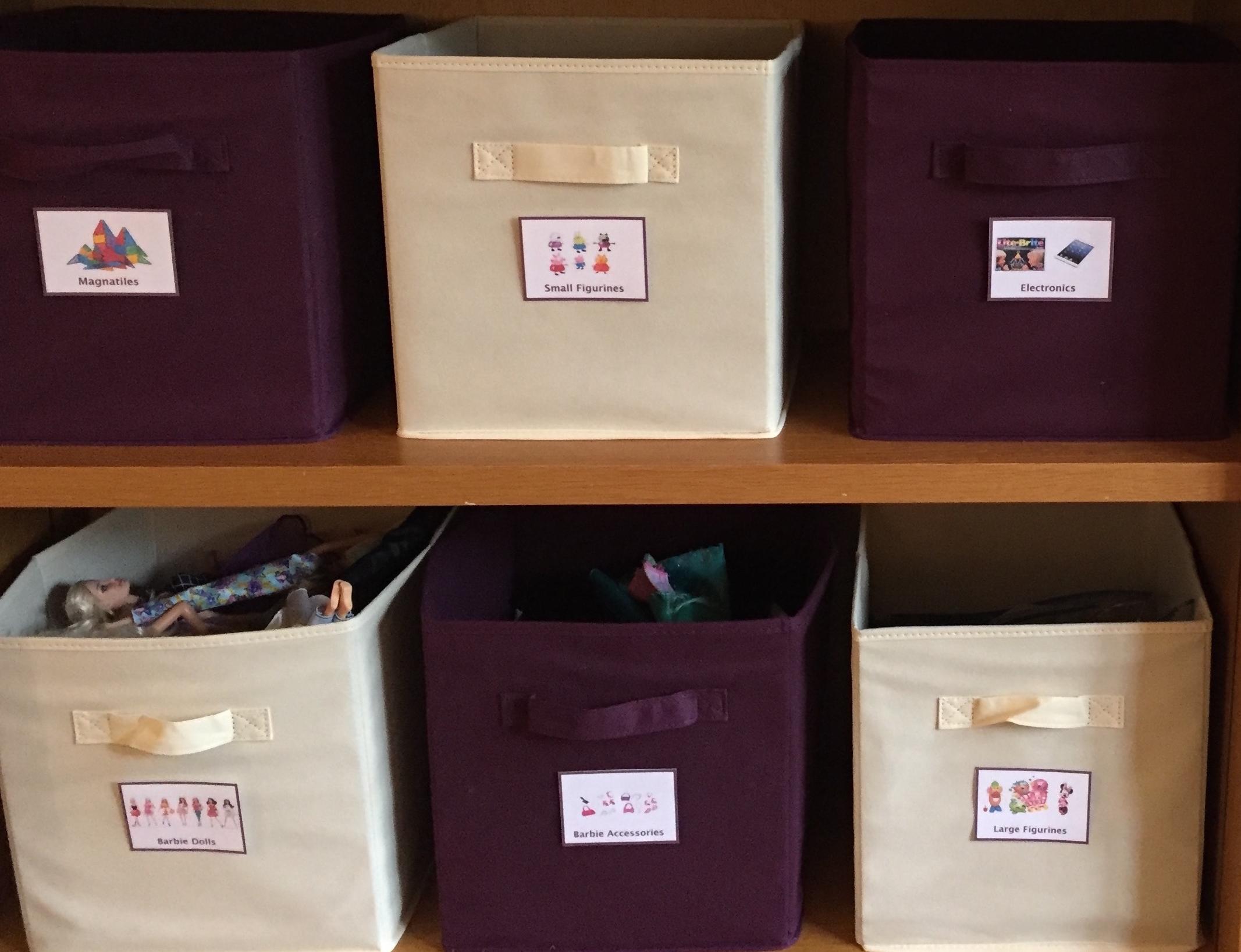 toy organizing bins