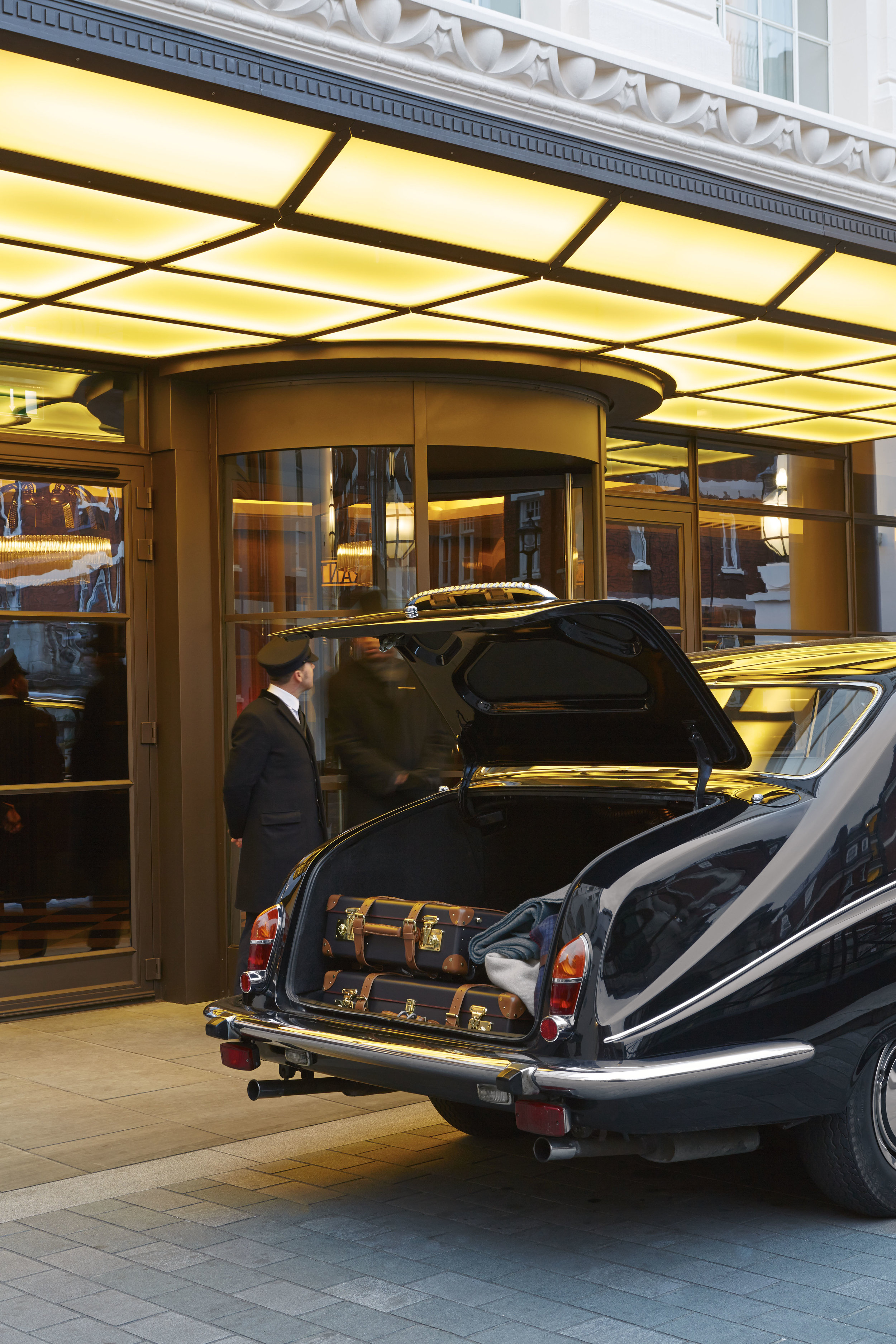 Explore London in a timeless manner in the Beaumont's vintage Daimler. All hoteL PHOTOS COURTESY OF THE BEAUMONT