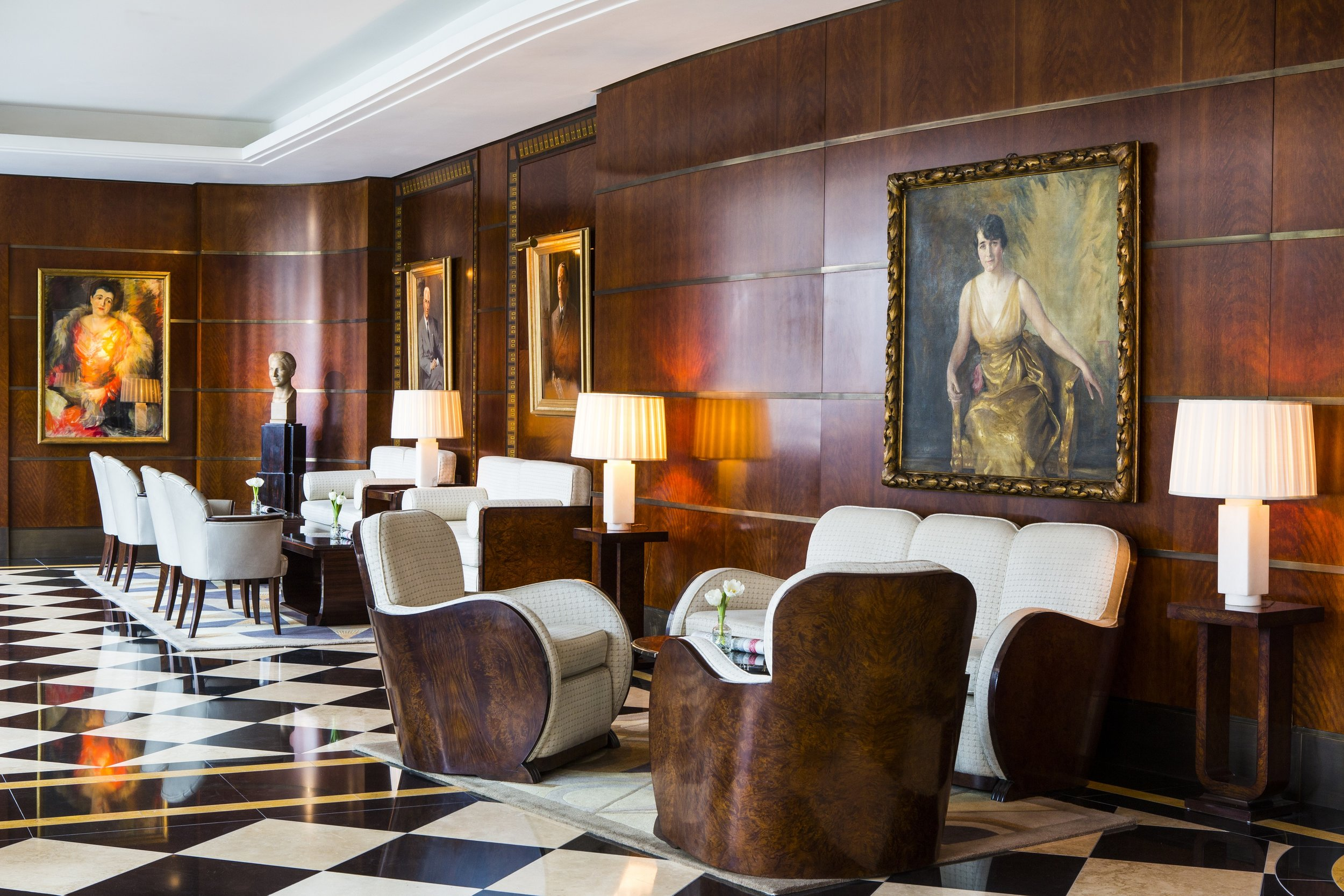 The elegant lobby sets the mood for your luxury experience