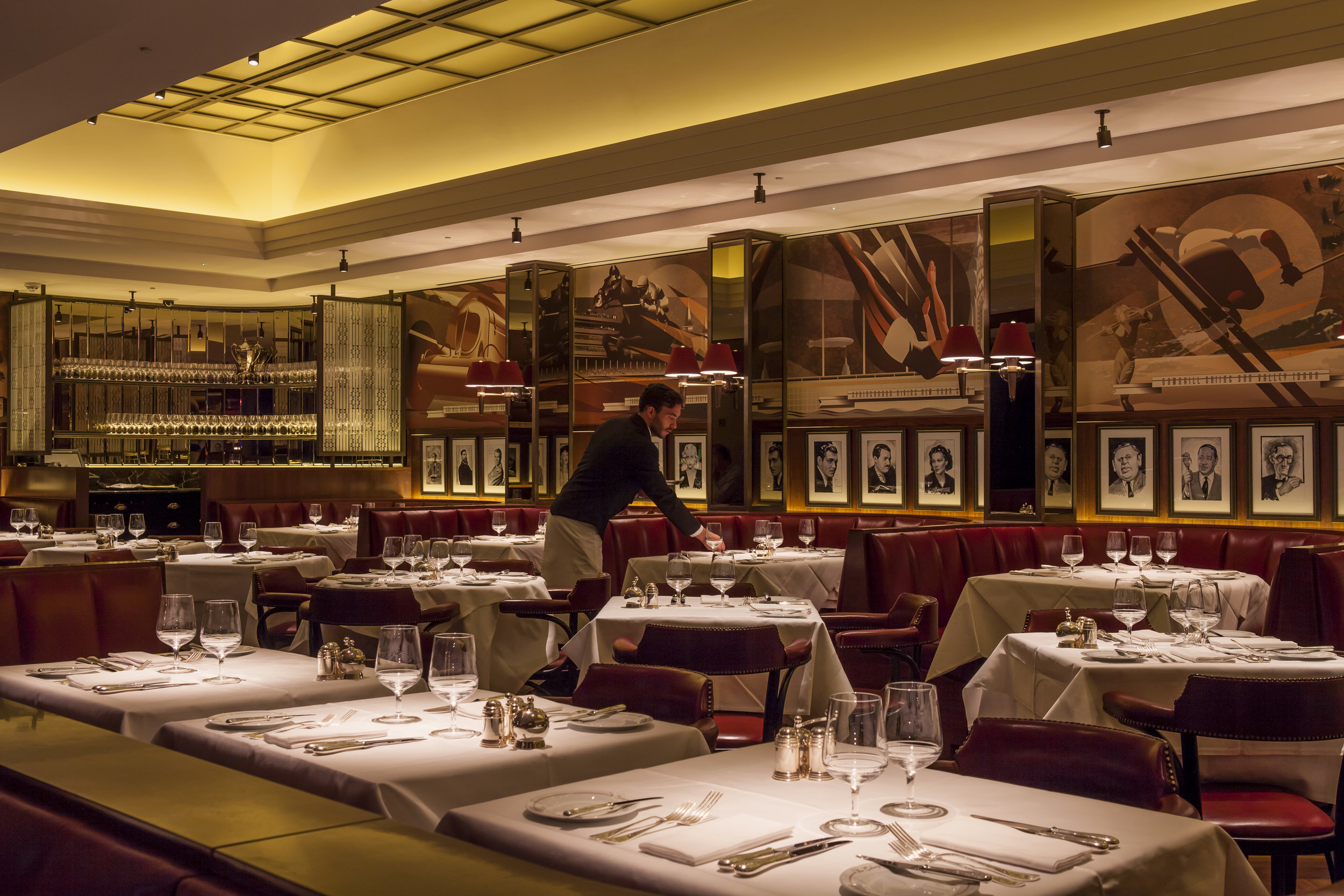 The glam Colony Grill Room, a throwback to 1920s American and British dining rooms