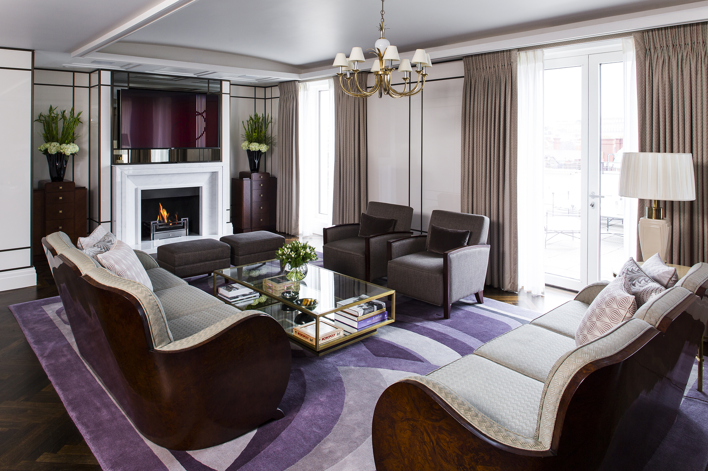 The glamorous Roosevelt suite, which evokes the great Transatlantic liners of the 1920s and 1930s