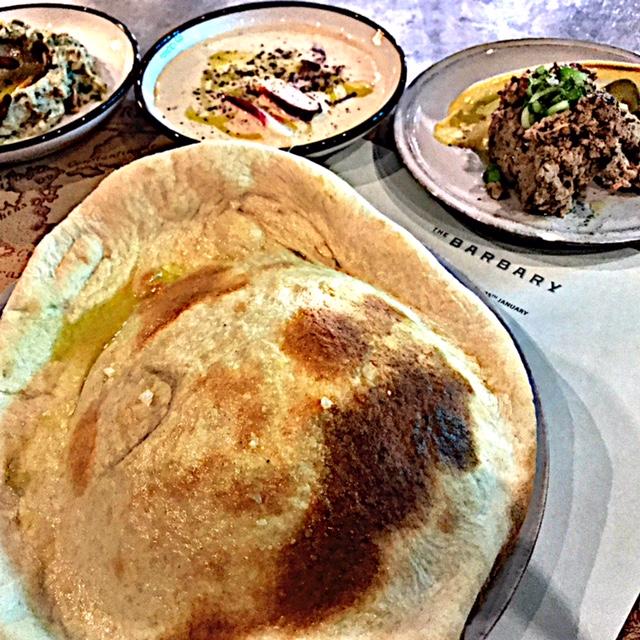 Barbary's signature bread, naan