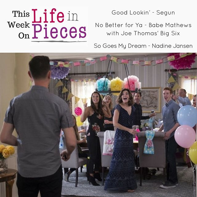 All new @lifeinpiecescbs TONIGHT featuring great tunes courtesy of our friends at @hitchermusic @concordmusicgroup and #FervorRecords!