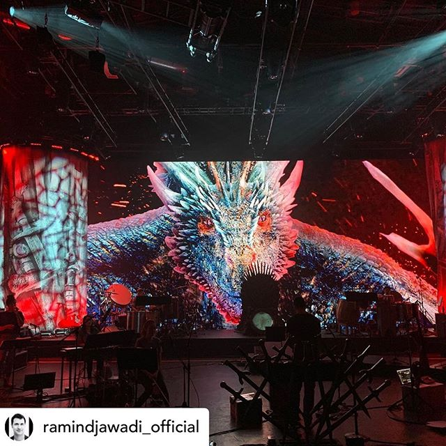 @ramindjawadi_official Game of Thrones Live production rehearsals day 1 !!!! Get ready. @gameofthrones @livenation #gameofthroneslive