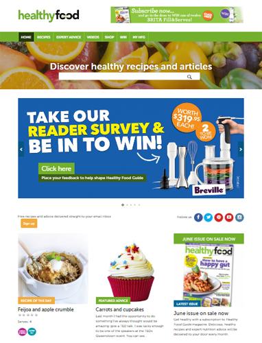 Healthy Food Guide website