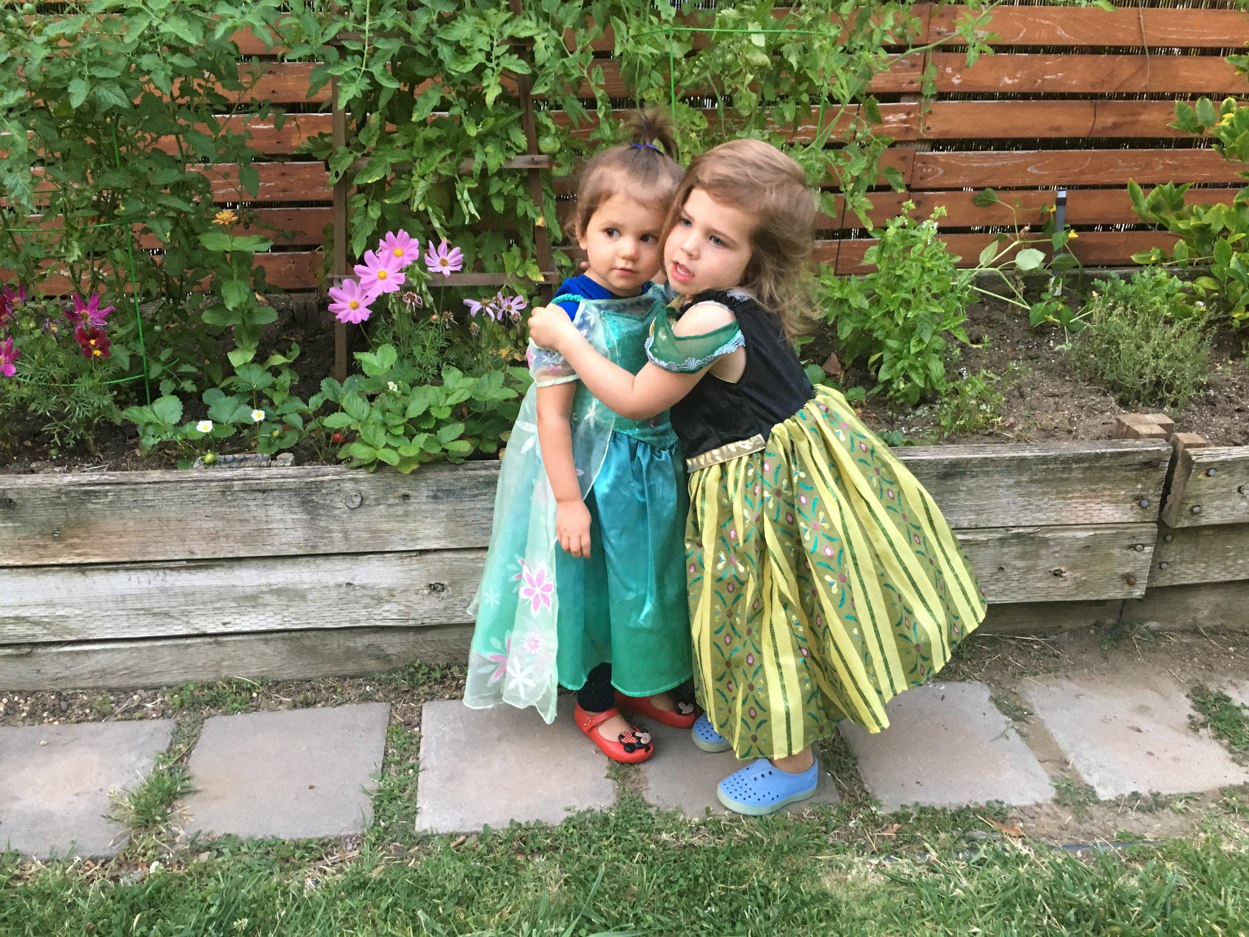 toddler garden princesses