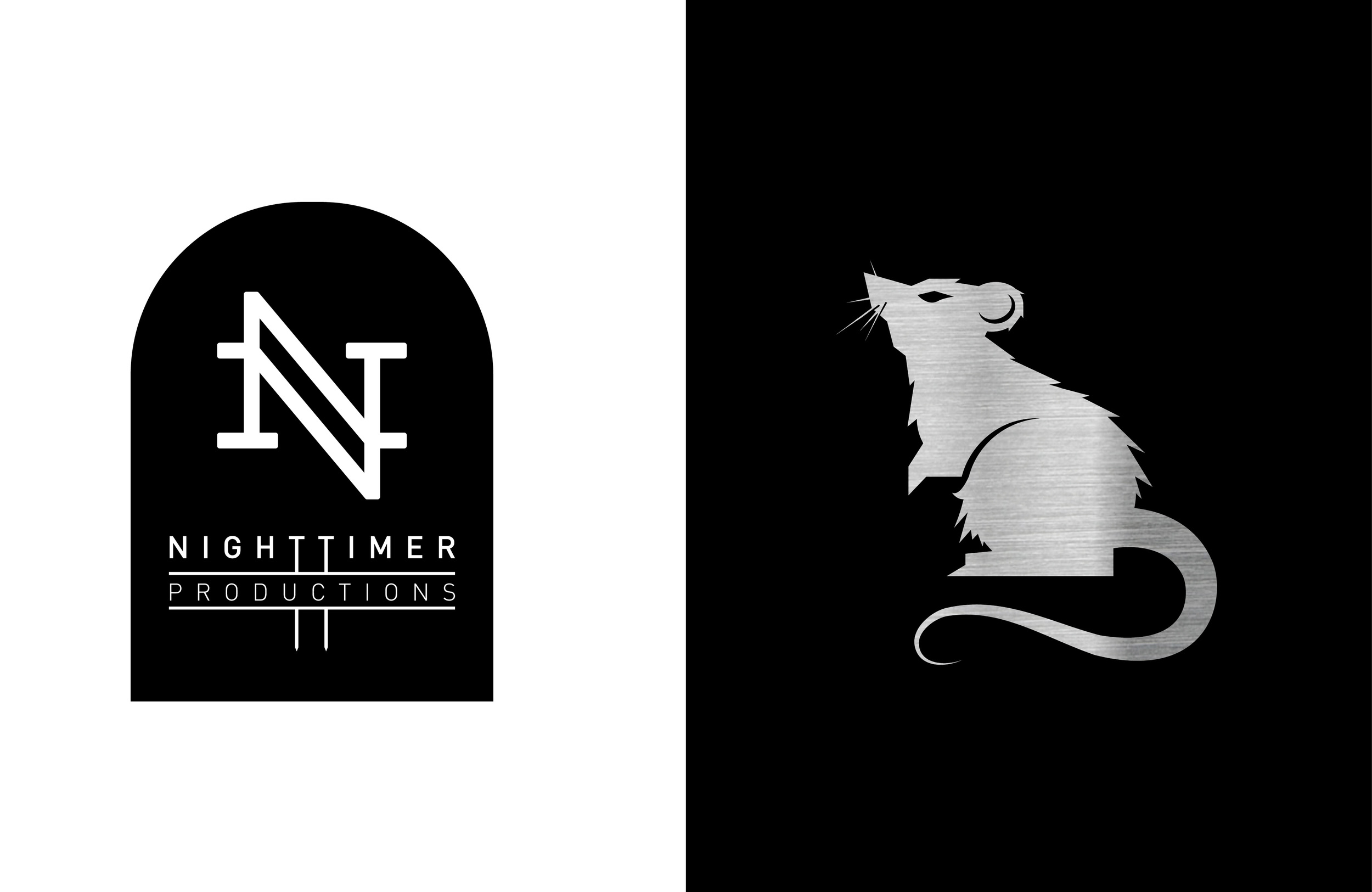 Tomb logo variant and city rat detail. Based on the ongoing theme of urban life and the later hours, the rat symbol was chosen as a mascot by the client.