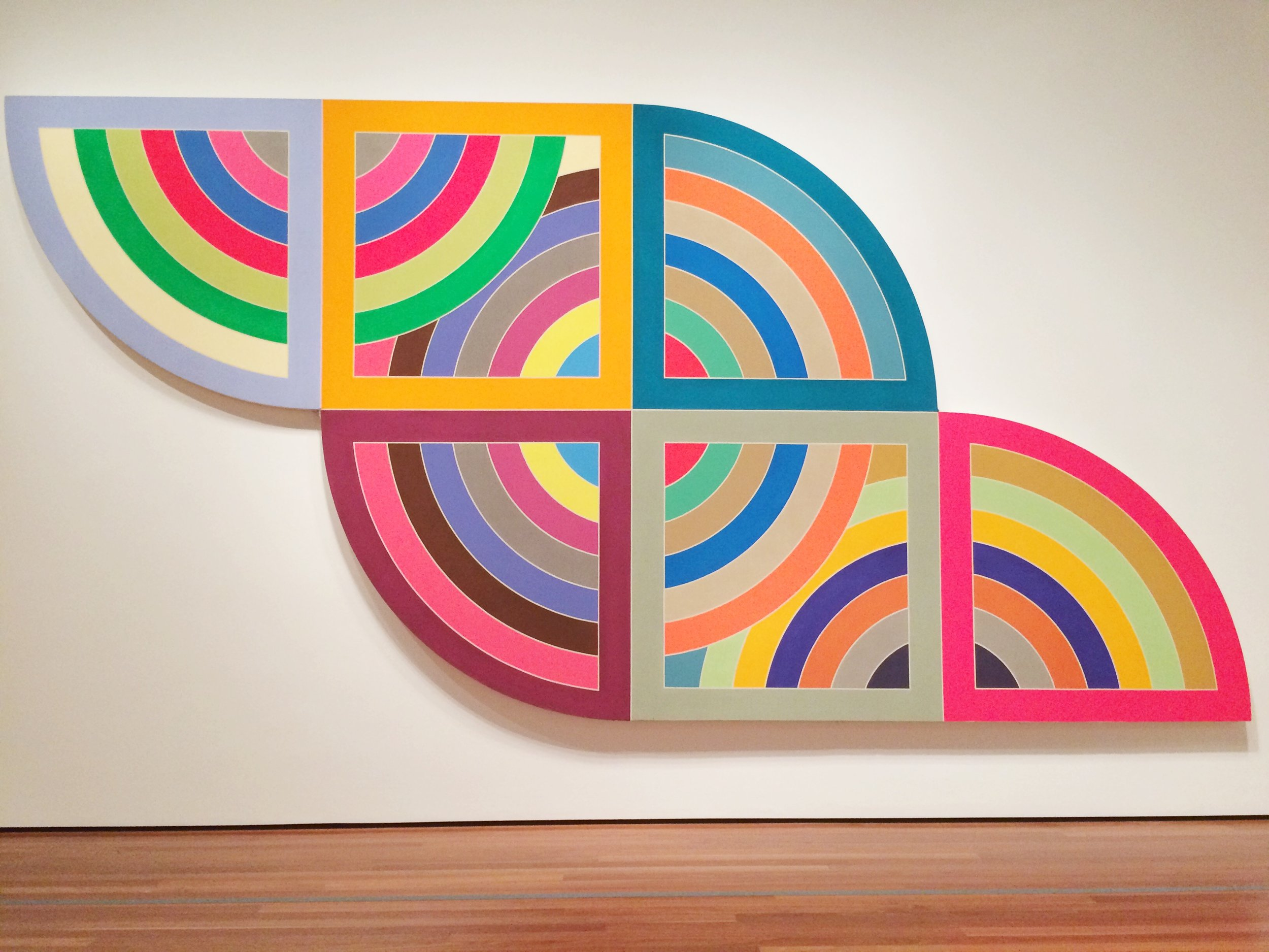 Frank Stella,  Harran II , 1967, from Frank Stella: A Retrospective at the de Young Museum