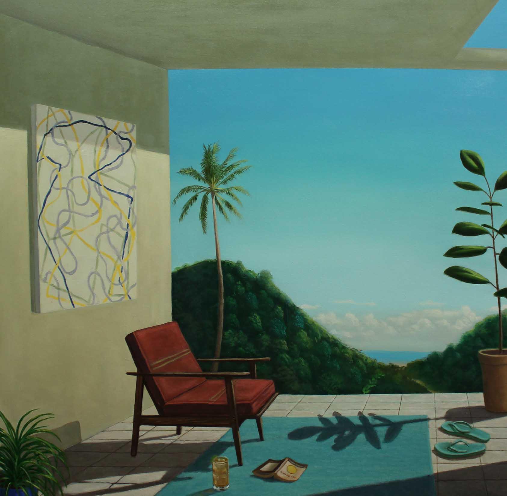 "Patrick St. Clair,  The Near Shore , 48"" x 48"", oil on canvas,courtesy of Simon Breitbard Fine Arts"