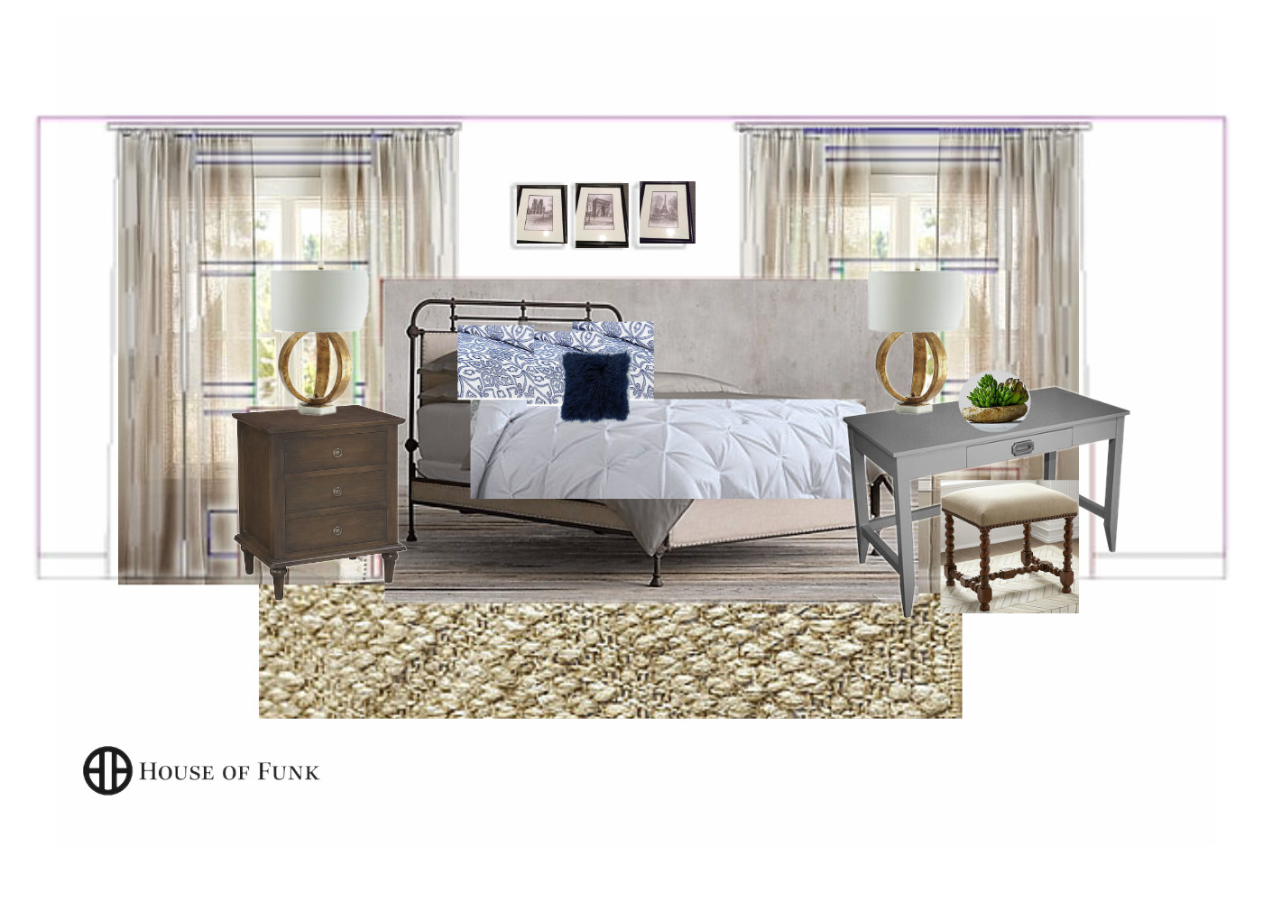 An inspiration image of how Ashley's room will look with the new furnishings