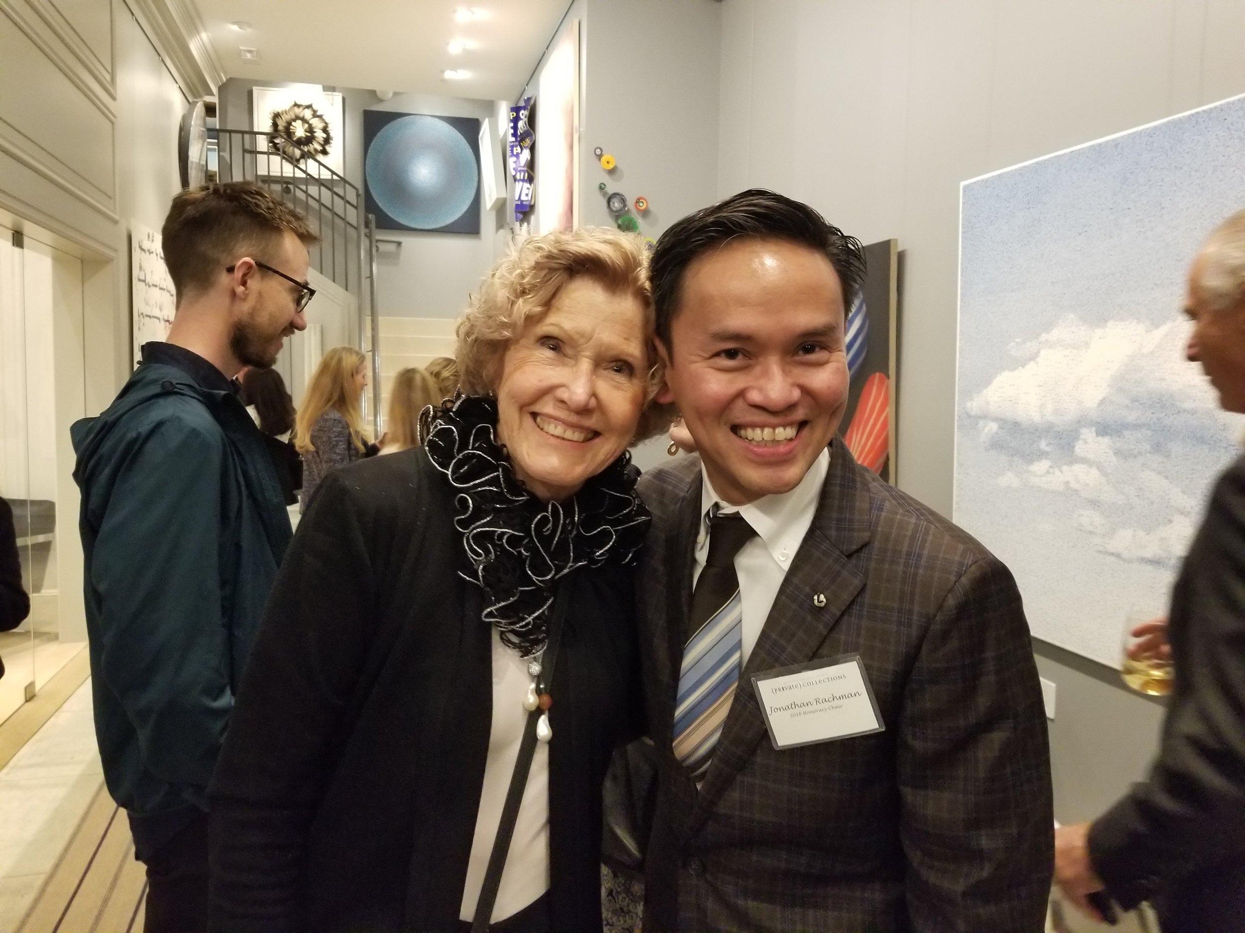 Kathy Calegari and 2018 Honorary Chair, Jonathan Rachman.