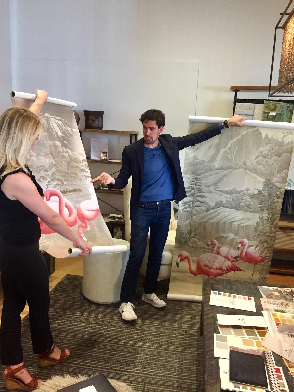Flamingos design from Papiers Peints Panoramiques collection