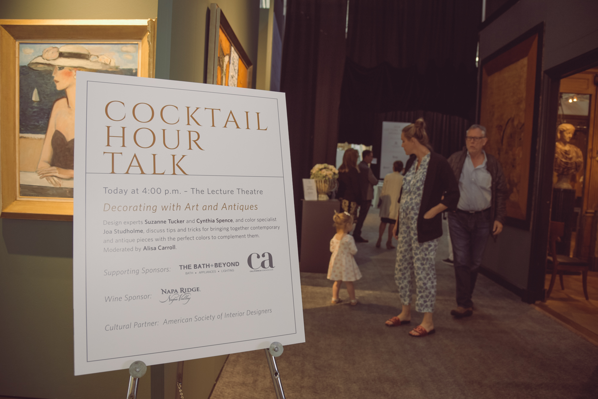 The Bath + Beyond and California Home + Design sponsored the event with Creative Partner ASID and Napa Ridge Winery providing the libations.