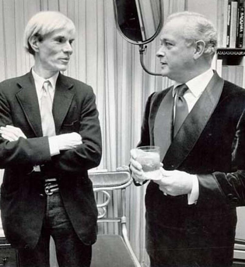 Tony Hail, right, with Andy Warhol in 1981. Steve Ringman/ San Francisco Chronicle