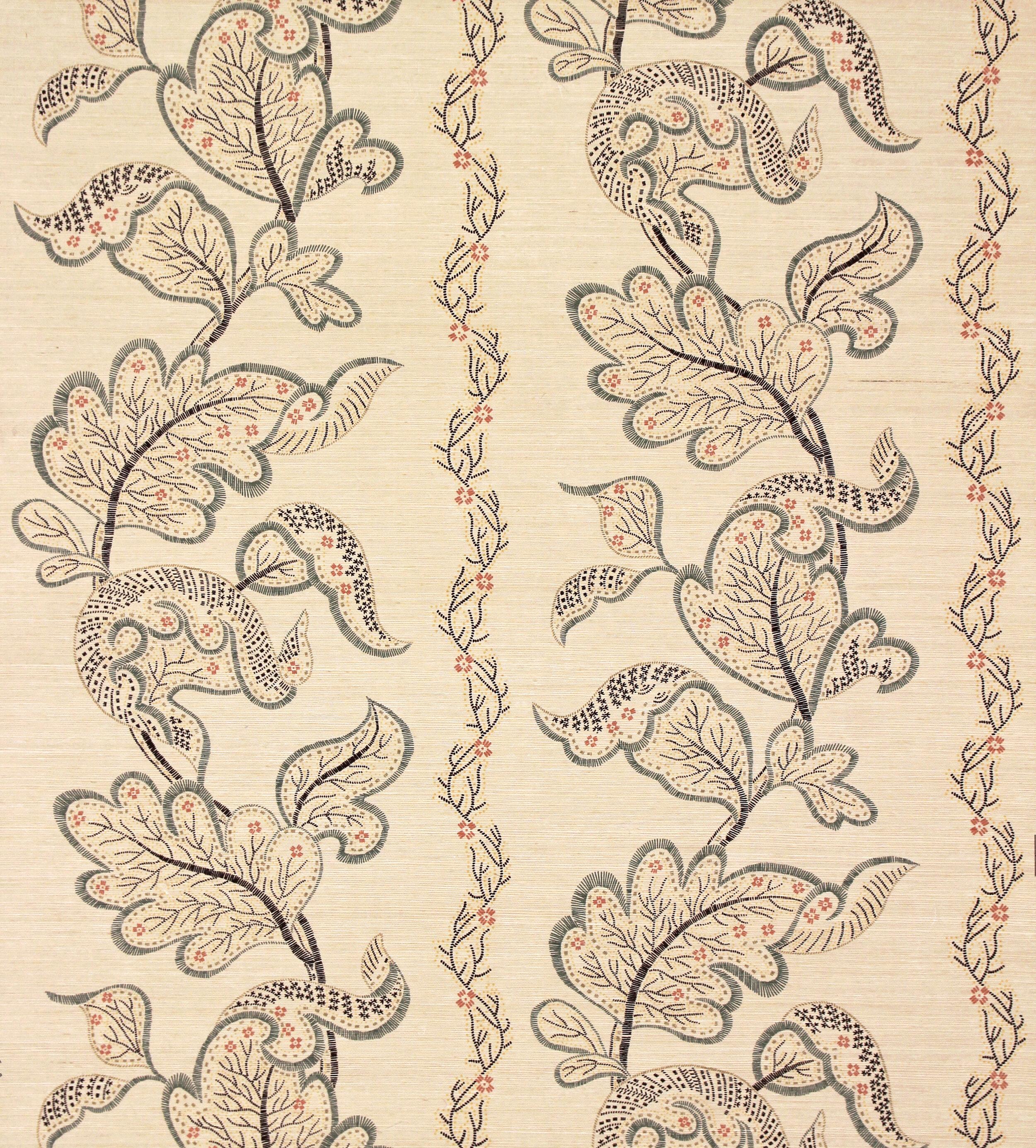 "Sister Parish Design ""Sintra"" Grasscloth, color Fern, designed by Albert Hadley"
