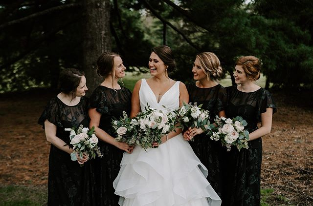 Weddings like Joanie's remind us of the importance of friendship and having your best friends closest to you on your wedding day!