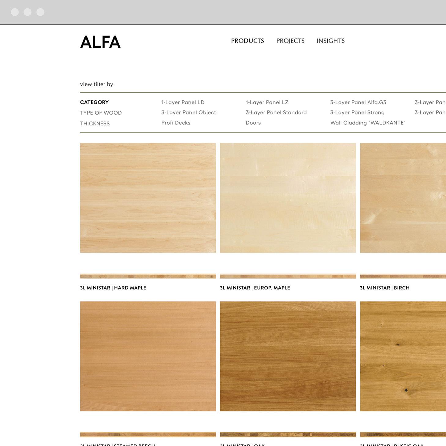 ALFA - web design III