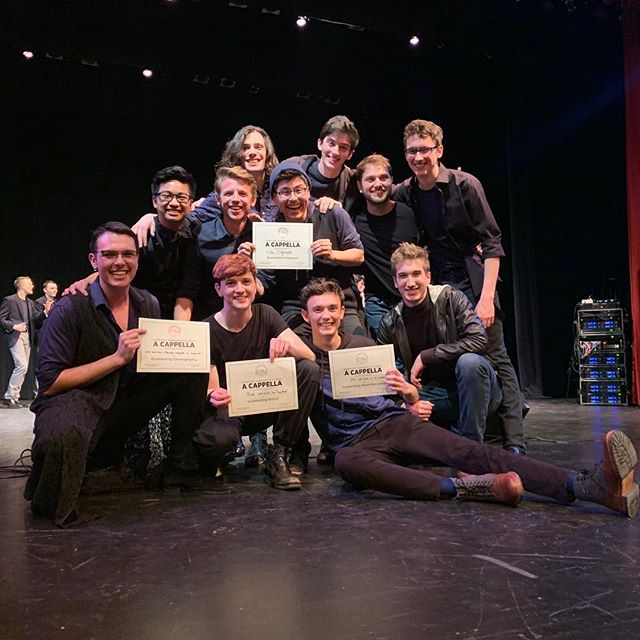 WOO!! We are super excited to say that we WON our ICCA Quarterfinal last night! We're so proud of each other and our performance, and we are so grateful to have had the chance to share our music! Last night was an amazing show from all the groups and we are blessed to have been a part of it. Thank you @varsityvocals for this opportunity, see you at semifinals!