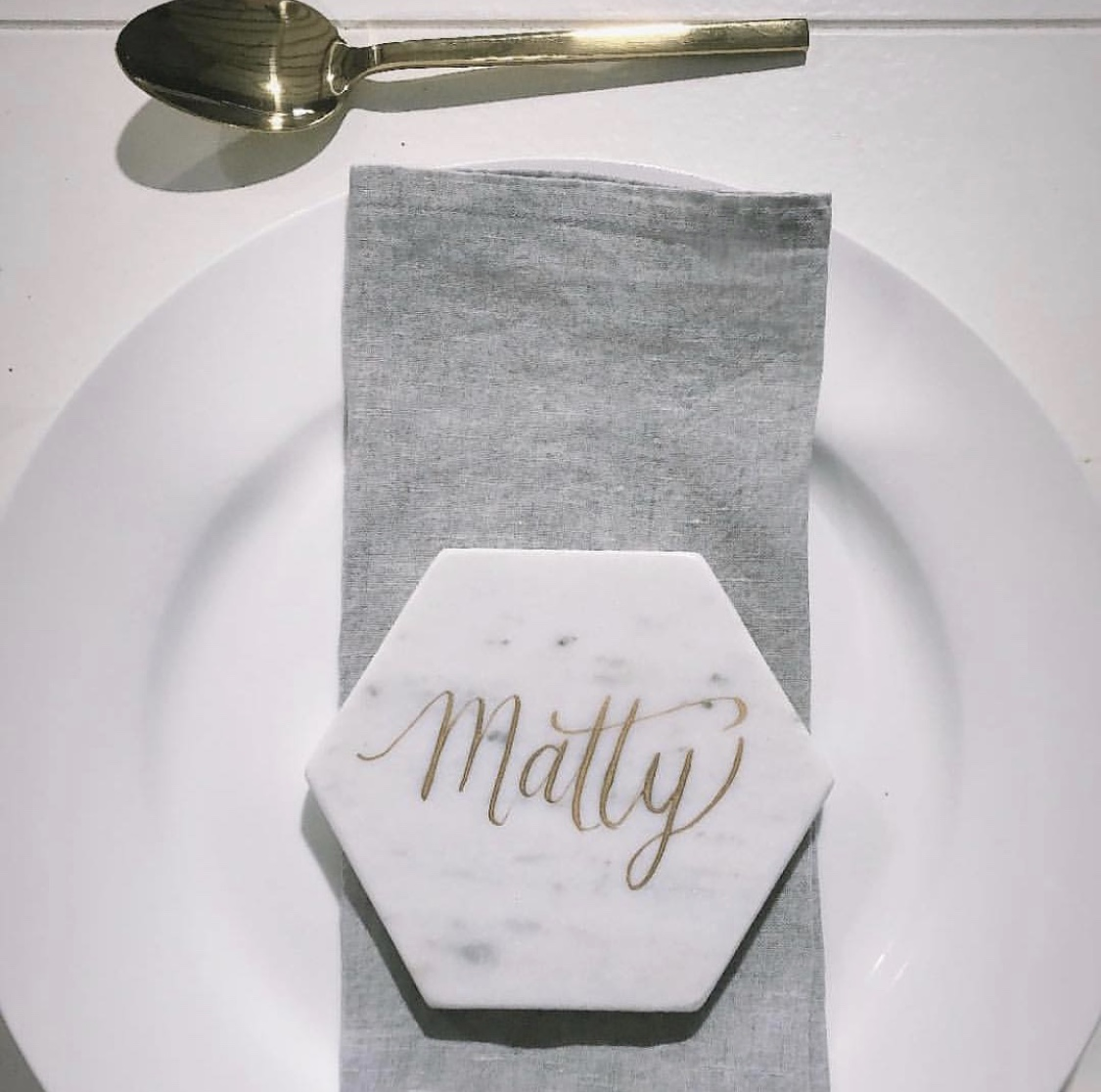 SIlver Grey Napkin, image via Matilda Rice