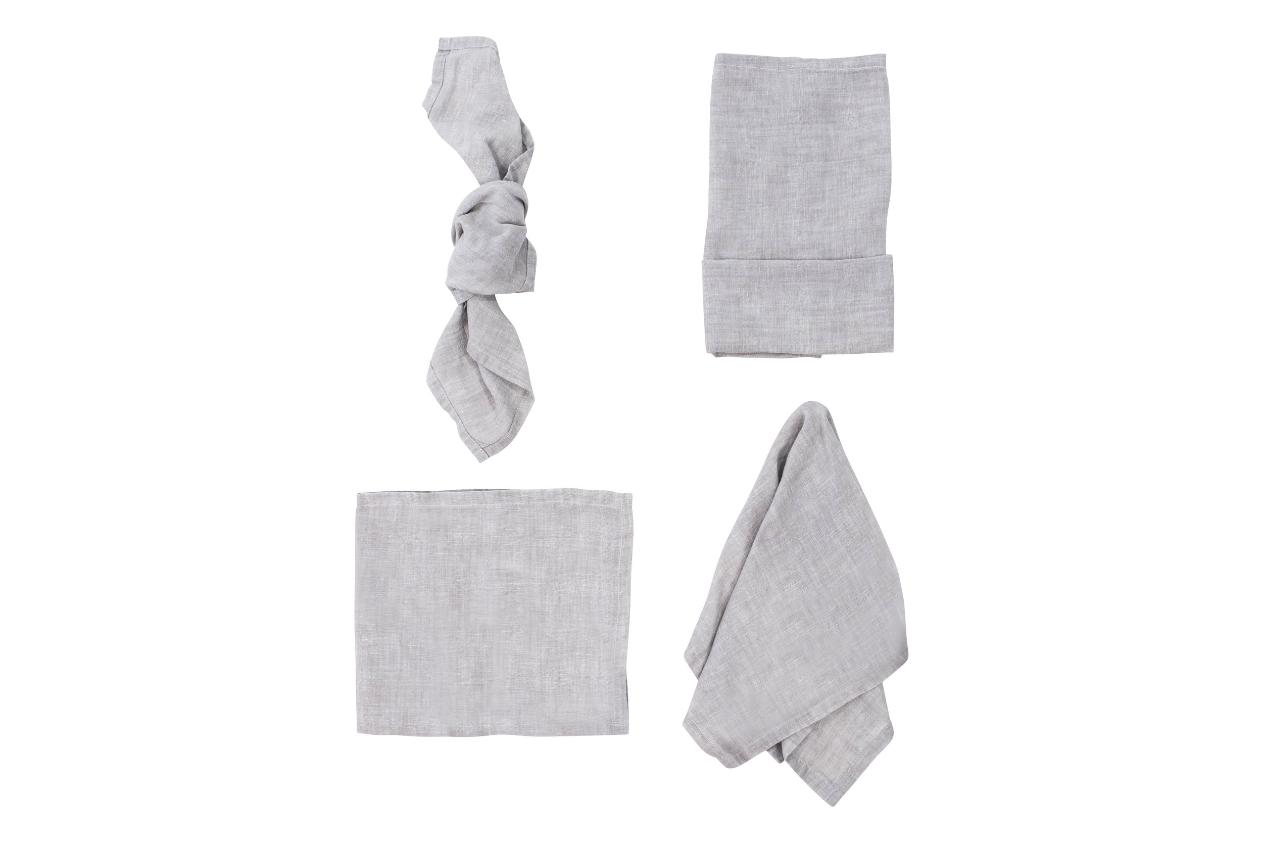 Silver Grey Napkin, $2.70 inc GST & Cleaning, enquire  here