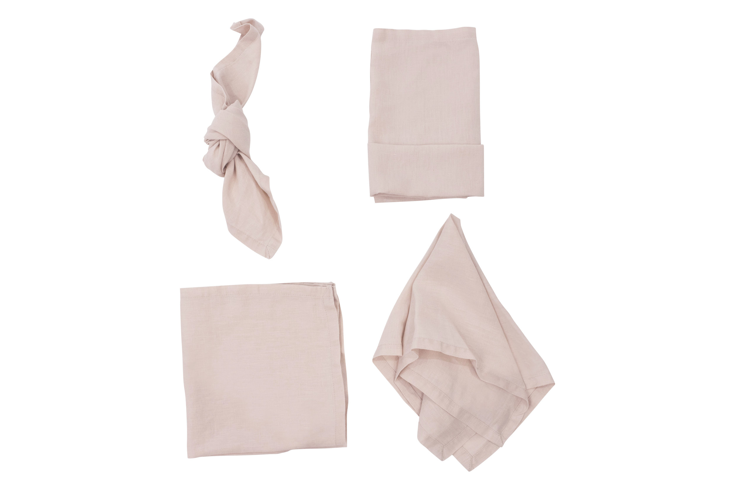 Blush Napkin, $2.70 each inc GST & Cleaning, enquire  here